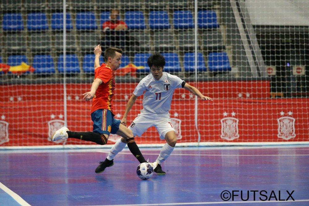 【親善試合】スペインの強さを感じ取ったFP芝野創太「なかなかボールを受けられなかった」